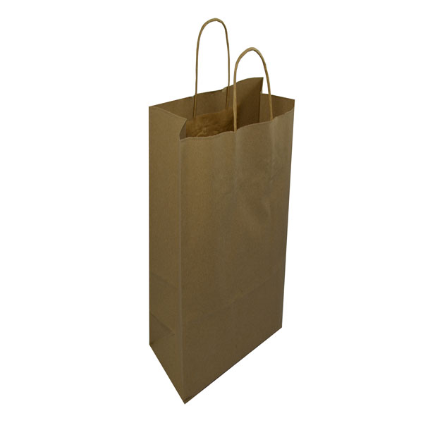 Paper Bag Book Cover With Handles : Medium brown handled paper bag maskas
